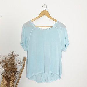 Talula   Light Blue Open Back T-Shirt   Small
